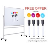 ZHIDIAN Office Quartet 36×24 Whiteboard Boards Set Large Dry Erase Boards Double Sided for Wall Cubi